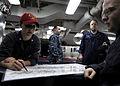 Marking a damage control chart 120404-N-WD757-039.jpg
