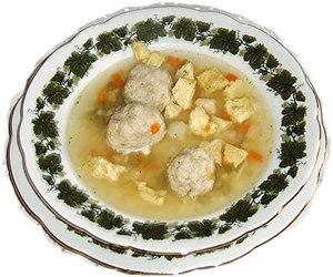 Bone marrow (food) - In some parts of Germany, beef soup is served with Markklößchen (bone marrow balls).