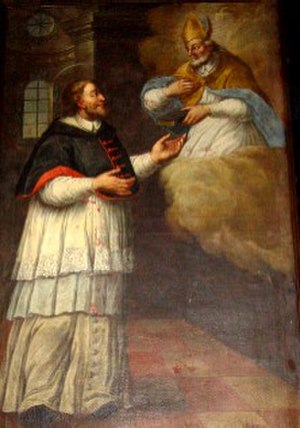 Martin of Leon - Saint Martin of Leon, with Saint Isidore of Seville appearing before him.