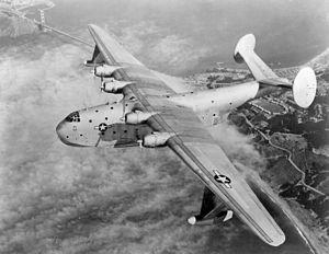 Martin XPB2M-1R Mars over Golden Gate Bridge c1944.jpeg