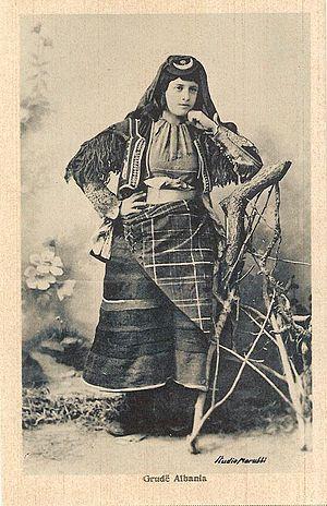 Gruda (tribe) - Woman photographed by Marubi.