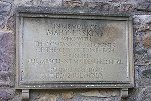 Mary Erskine - Mary Erskine's grave, Greyfriars Kirkyard