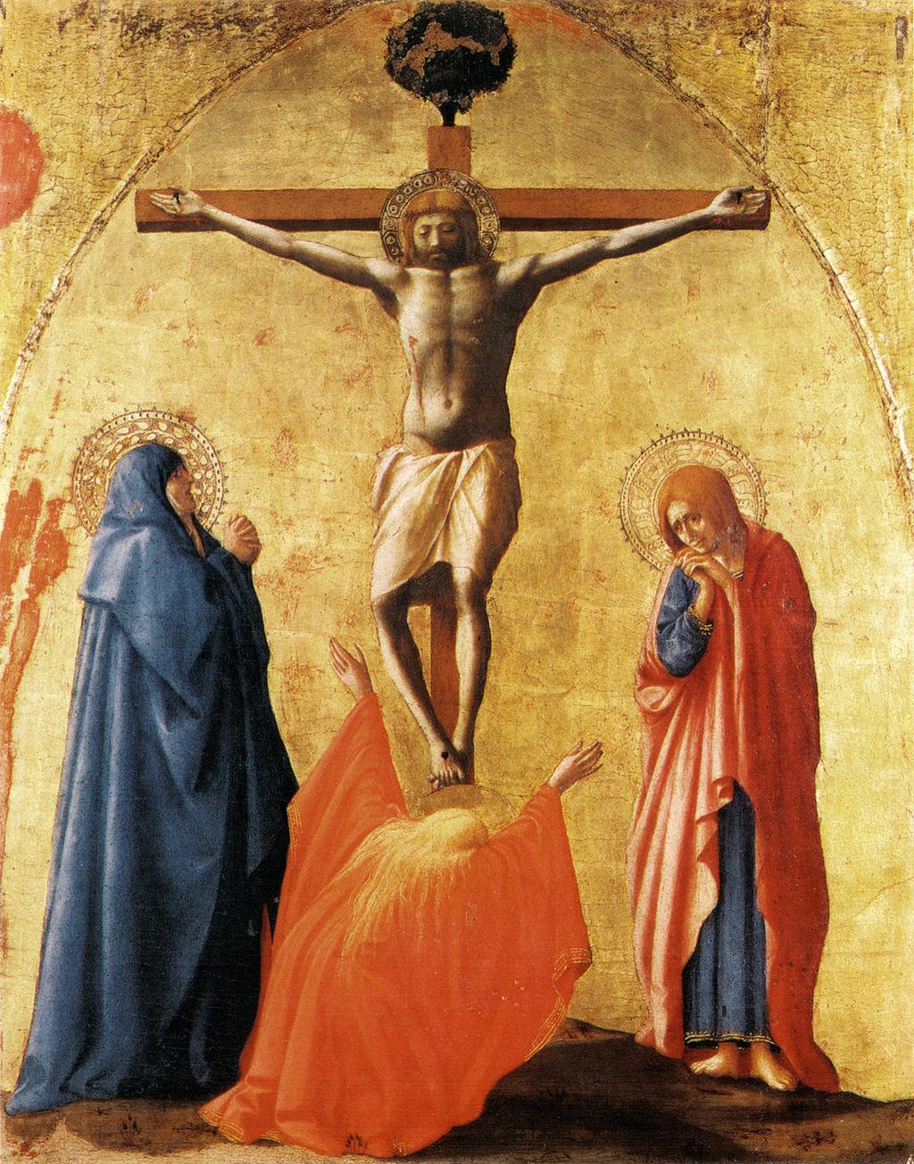 Masaccio, polittico di pisa, crocefissione napoli, 83x63 cm
