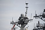 Mast of USS Benfold (DDG-65) left front view at U.S. Fleet Activities Yokosuka April 30, 2018 01.jpg