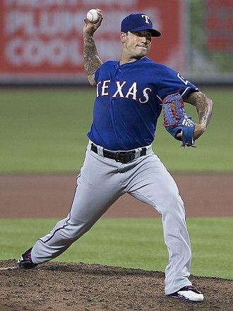Matt Bush (baseball) - Bush with the Texas Rangers in 2017