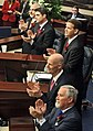 Matt Hudson, Steve Crisafulli, Andy Gardiner, Rick Scott, and Garrett Richter applaud invited guests during opening day session of the Legislature.jpg