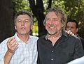 Mauricio Macri con Robert Plant, Huesped de Honor de la Ciudad (8148771730).jpg