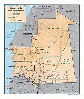 Adrar Plateau - Image: Mauritania rel 95