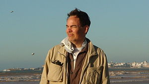 Max Keiser photographed on location during the...