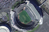 Satellite photograph of the Oakland Coliseum