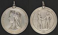 1871–1921 Sayılı Antlaşmaların anısına sunulan Hintli Chiefs Madalyası
