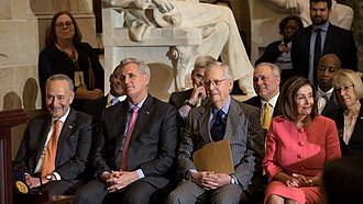 Congressional leaders in January 2020 MedalCeremony 1 011520 (44 of 69) (49396285057).jpg