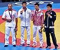 Medalists at the Men's 60 kg Greco Roman Wrestling.jpg
