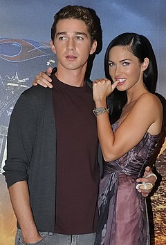 Megan Fox and Shia Labeouf promoting Transformers in Paris.jpg