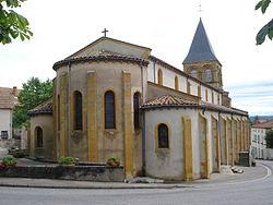 Melay (Saône-et-Loire, Fr), l'église avec son chevet.JPG