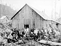 Men in front of mess hall, Snohomish County, ca 911 (PICKETT 44).jpeg