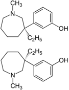 Chemical structure of Meptazinol.