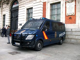 National Police Corps - Image: Mercedes Benz Sprinter law enforcement in Madrid