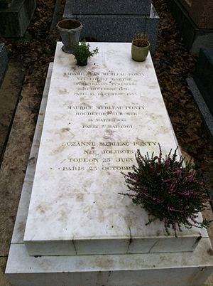 Maurice Merleau-Ponty - Merleau-Ponty's grave at Père Lachaise Cemetery in Paris, where he was buried with his mother Louise and his wife Suzanne