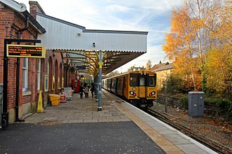 Ormskirk railway station - A view of the Merseyrail end of the platform.
