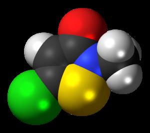 Methylchloroisothiazolinone - Image: Methylchloroisothiaz olinone 3D spacefill