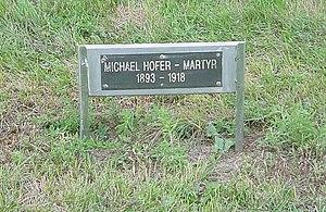 Hutterite - Michael Hofer – Martyr