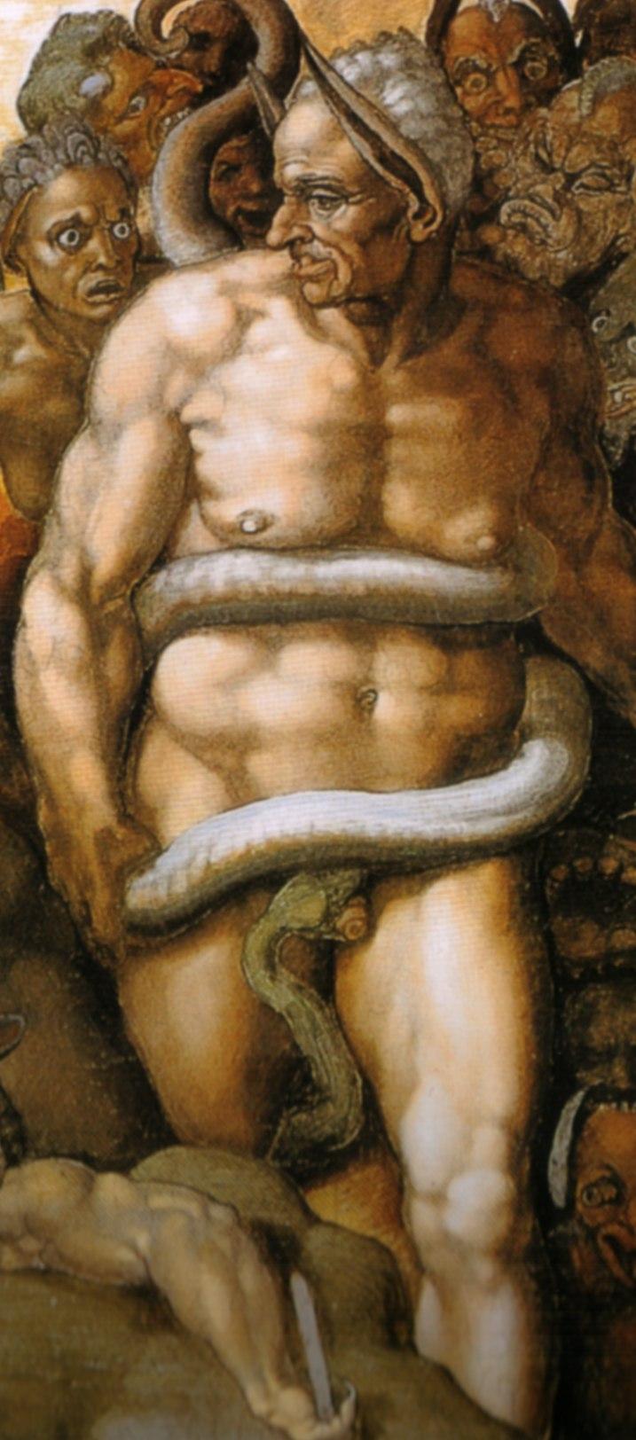 Michelangelo, giudizio universale, dettagli 50