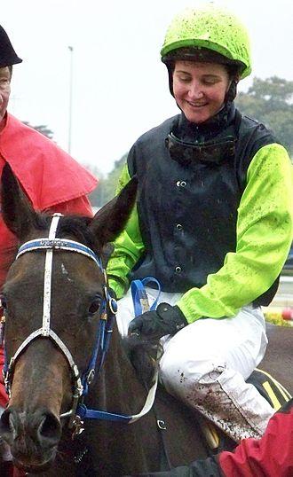 Michelle Payne - Michelle Payne on Yosei, upon winning the 2010 Thousand Guineas at Caulfield