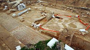 Adullam Grove Nature Reserve - Ruins of Byzantine church, Khirbet Midras, 2010
