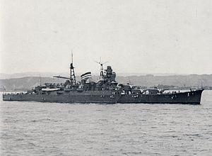Japanese cruiser Mikuma - Mikuma in Kagoshima Harbor, 1939