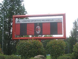 Milanello association football ground in Italy