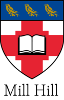 Mill Hill School Coat of Arms, as redesigned in 2017.