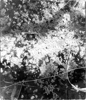 Tallboy (bomb) - Damage to the Fortress of Mimoyecques from Allied air attacks, including attacks with Tallboy bombs.