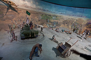 1979 Herat uprising - Afghan diorama depicting the insurgency in Herat Military Museum.