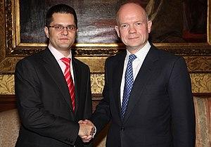 Vuk Jeremić - Jeremić with British Foreign Secretary William Hague, November 2011