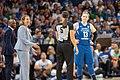 Minnesota Lynx head coach, Cheryl Reeve & Lindsay Whalen protest a referee call.jpg