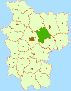 Location of Smalyavichi Raion within منسک علاقہ