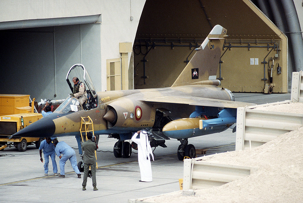 Armée du Qatar  1024px-Mirage_F1_Qatar