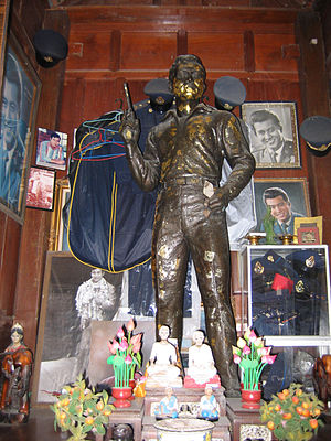 Mitr Chaibancha - The statue of Mitr Chaibancha in a shrine in Jomtien Beach, Thailand.