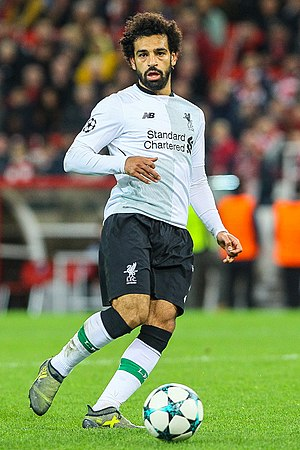 Mohamed Salah - Salah playing for Liverpool in 2017