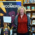 "Moira McPartlin at ""Incomers"" book signing, April 2012.jpg"