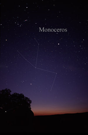 Monoceros - The constellation Monoceros as it can be seen by the naked eye.