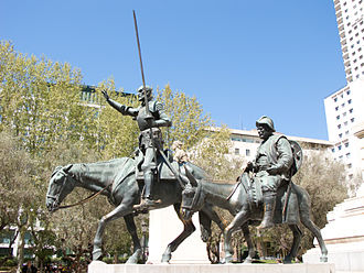 Lorenzo Coullaut Valera - Monument to Cervantes.  Plaza de España, Madrid.  Lorenzo Coullaut Valera.
