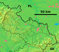 Moravian-Silesian Region - physical map.png