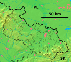 Ostravice (river) is located in Moravian-Silesian Region