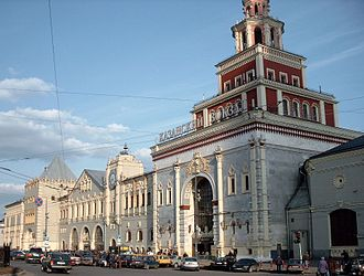 Moscow Kazansky railway station - View of the station's main entrance