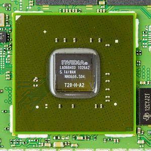 Tegra - Image: Motorola Xoom nvidia Tegra 2 T20 H A2 on main board 0121
