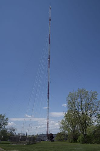 Royal Oak Charter Township, Michigan - Motower Multilink Corporation's 993 foot radio tower located in Radio Plaza