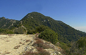Mount Lowe (California) - Mount Lowe from west side