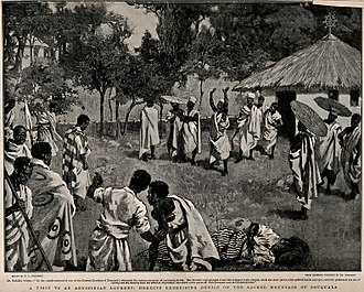 Mount Zuqualla - Hermits performing an exorcism on Mount Zuqualla.